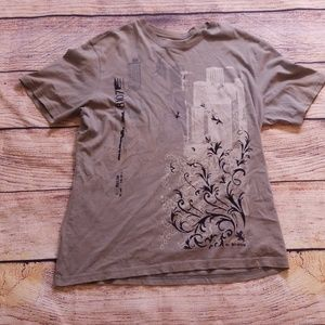 Express L cotton gray shirt